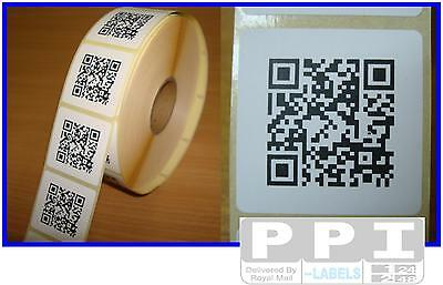 1000 QR CODE Roll Labels Stickers on Roll 38x38 Barcode Quick Response  QR-ROLL