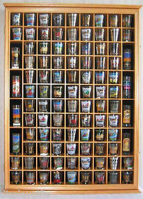 100 Shot Glass Display Case Wall Cabinet Rack, with door to preven Dust, SC15-OA