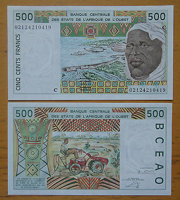 WEST AFRICAN STATES Burkina Faso (C) Banknote 500 Francs UNC 〓