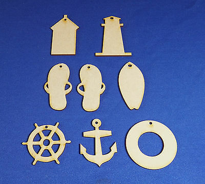 Seahorse Craft Shape Seaside 2mm MDF Wood Ocean Sea Various Sizes