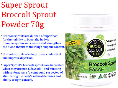 1 x 80g SUPER SPROUT Australian Grown 100% Pure Organic BROCOLLI SPROUT POWDER