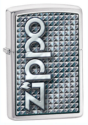Zippo 3D Abstract, Brushed Chrome, Item 28280, New In Box, Engraved Free
