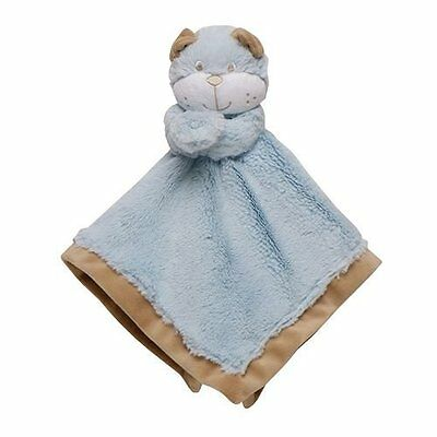 Carter's Blue Tan Puppy Dog Rattle Lovey Security Blanket NWT