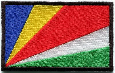 Flag of the Seychelles islands ensign applique iron-on patch new S-50