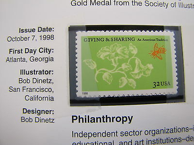 1998 US 32cent Stamps Space Discovery 3238-42 & Philanthropy 3243