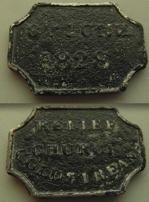 Collectable Scottish Coldstream Relief Communion Church Token - 8th June 1828