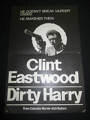 DIRTY HARRY original CLINT EASTWOOD poster