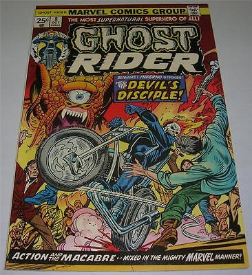 GHOST RIDER #8 (Marvel 1974) Gil Kane cover! SATAN & INFERNO appearance! (VF-)