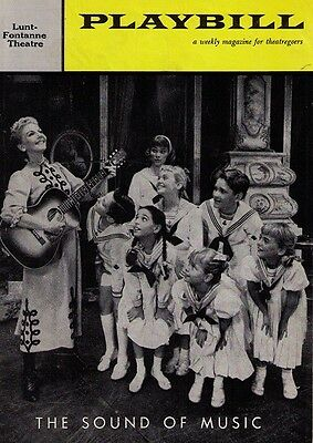 The Sound Of Music Broadway Playbil - Mary Martin