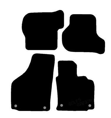 Vw Golf 5 (& Tdi) 04 To 07 Oval Clips Fully Tailored Black Car Mats Efficient