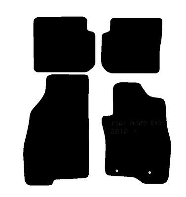 Fiat Punto Evo 10  Fully Tailored Black Car Mats Efficient