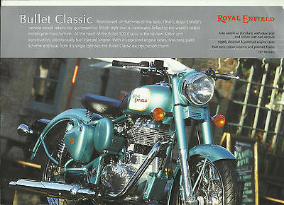 Royal Enfield Bullet Classic  Brochure 1 Page