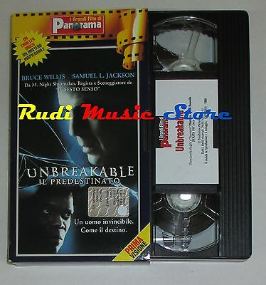 film VHS UNBREAKABLE B. Willis S. L. Jackson  CARTONATA PANORAMA (FP1*)  no dvd