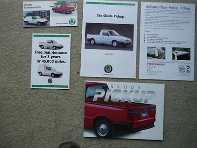 SKODA PICK UP AND COMMERCIALS Brochures x 5 jm