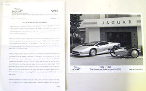 Jaguar 70th Anniversary 1992 original UK Press Release XJ220