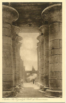 EGYPTE EGYPT THEBES the hypostyle hall of ramesseum