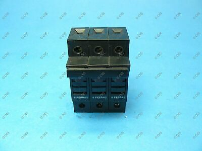 Ferraz C081077 ST10III Fuse Holder Class CC 3 Pole 25 Amps 600 VAC Used