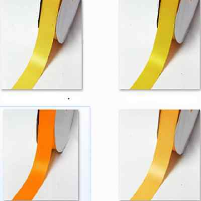 """100 Yards Double Sided Satin Ribbon 1/2"""" / 13mm Wholesale,Yellow-Orange for gift"""