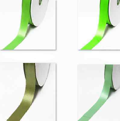 "Double Faced Satin Ribbon 1/4"" / 6mm. 100 Yards, Lime to green Thin"