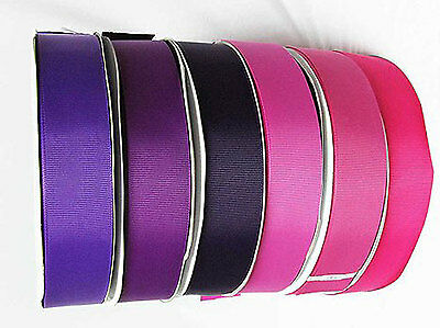 "Grosgrain Ribbon Wholesale 6mm 1/4"" 100 Yards Lilac to Purple colors for cake"