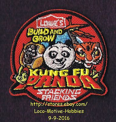 LMH PATCH Badge 2012 KUNG FU PANDA Kids Build Grow LOWES Clinic STACKING FRIENDS