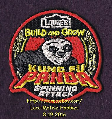 LMH Patch Badge  2012 KUNG FU PANDA Build Grow LOWES Project  SPINNING ATTACK
