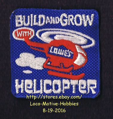 LMH Patch Badge  2009 HELICOPTER  Build Grow  LOWES Kids Clinic  CHOPPER