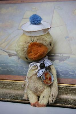 Mohair Bear/Vintage Duck Pattern 5.5 inch