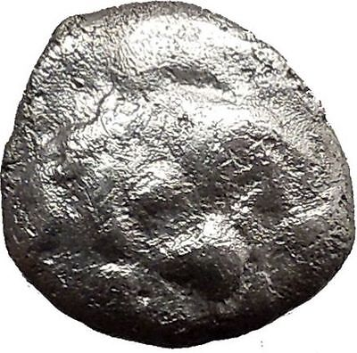 Parion in MYSIA 480BC Gargoneion Medusa  Ancient Silver Greek Coin Rare  i21842