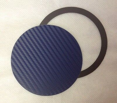 Magnetic Tax Disc Holder carbon fibre effect blue 3d fit all cars
