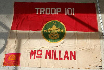 EARLY BOY SCOUT- TROOP 101 FLAG - Mc MILLAN --DEFIANCE 4x51/2  WITH 2 ADD ONS