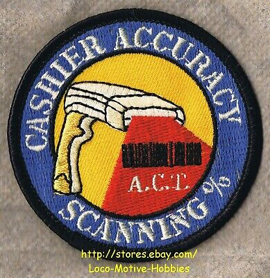 LMH PATCH Badge  CASHIER ACCURACY SCANNING % Home Depot  Barcode Scanner  A.C.T.