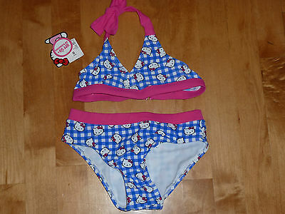 Nwt Girls Hello Kitty 2-Piece Bikini Size Small 6/6X
