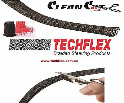 Techflex Flexo Clean Cut NON Fray Resistant  Braided Cable Sleeving