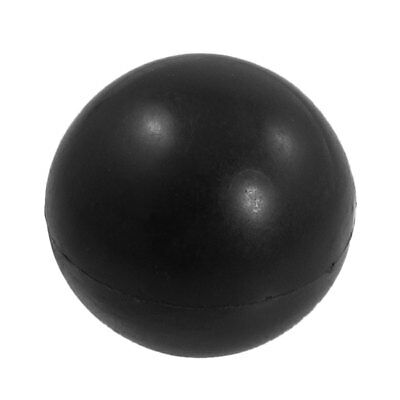 Black Plastic 12mm x 40mm Diameter Round Ball Handle Knob