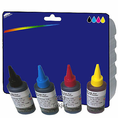 Choice of Any 4x 100ml of Bulk Ink for use with Epson Inkjet Printers