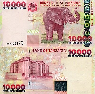 TANZANIA 10000 Shillings Banknote World Money Currency Bill Africa Note p39 2003