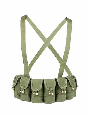 SURPLUS CHINESE MILITARY SKS TYPE 56 SEMI AMMO CHEST-RIG BANDOLIER POUCH-31165