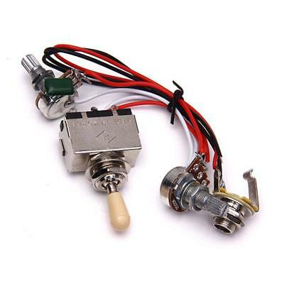 Guitar Wiring harness 3 way Toggle switch 500k volume tone jack for LP Les paul