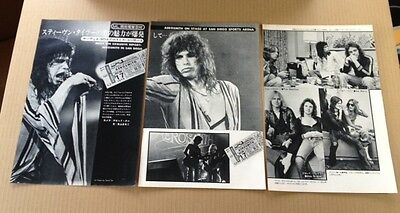 1976 Aerosmith 5 pg 9 photo JAPAN mag feature / clippings cuttings Steven Tyler