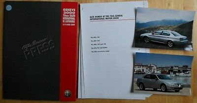 ALFA ROMEO Press Pack March 2000 UK Market brochure - 145 146 156 166 GTV Spider