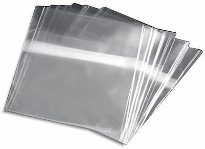 500-Pak =RESEALABLE= Plastic Wrap Sleeves for CARDBOARD SLEEVES & SLIM POLY CASE