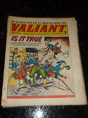 VALIANT Comic - Date 28/09/1968 - UK Fleetway Paper Comic