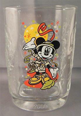 Mickey Mouse Disney World 2000 Animal Kingdom Embossed Glass Tumbler - France