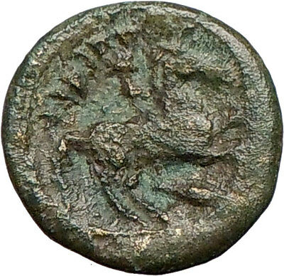 Philip II Alexander the Great Dad OLYMPIC GAMES Ancient Greek Coin Horse i25268