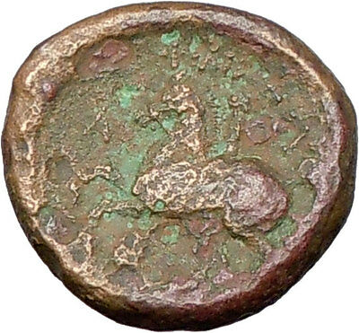 Philip II Alexander the Great Dad OLYMPIC GAMES Ancient Greek Coin Horse  i27776