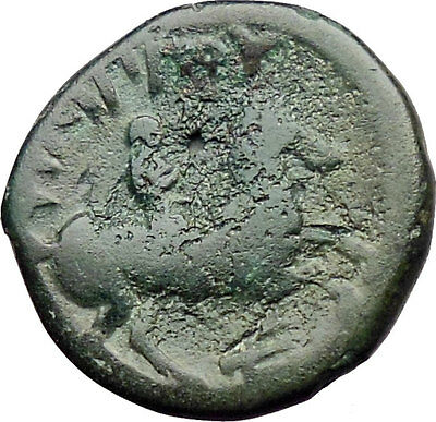Philip II Alexander the Great Dad OLYMPIC GAMES Ancient Greek Coin Horse i30325