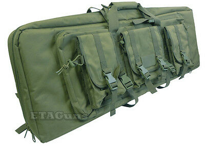 """Condor OD Green 151 MOLLE 36"""" Tactical Double 5.56 Rifle Mag Carrying Bag Case"""