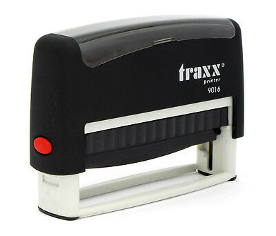 Traxx Personalised Custom Cheque Book Self Inking Rubber Stamp Brand New