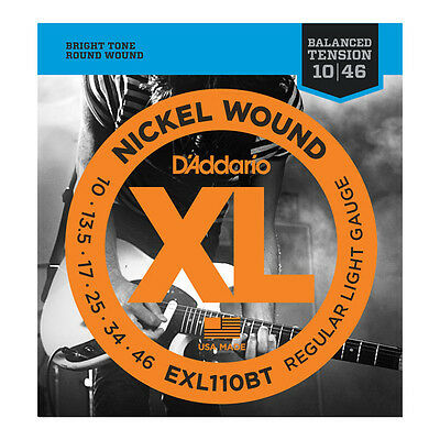 D'Addario EXL110BT Balanced Tension Electric Guitar Strings 10-46
